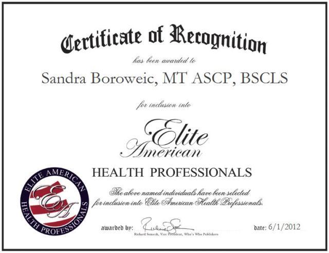Sandra Lynne Boroweic, MT, ASCP, BSCLS