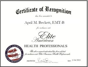 April M. Beckett, EMT-B