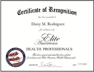 Daisy M. Rodriguez Health Prof